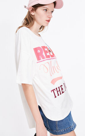 英文字寬鬆純棉半袖T恤