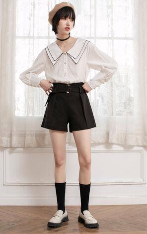 【2件8折】高腰直筒寬鬆格紋休閒褲