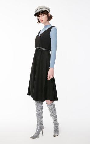 冬季新款背帶絨面兩件套連衣裙女|118407508
