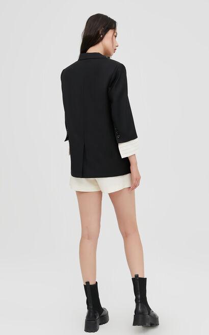 職場簡約專業風格氣質黑色西服外套, 黑, large