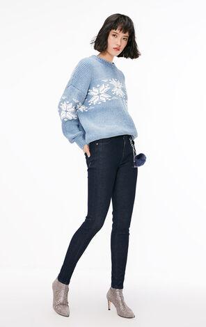 冬季新款雪尼爾線套頭針織衫女|118413501