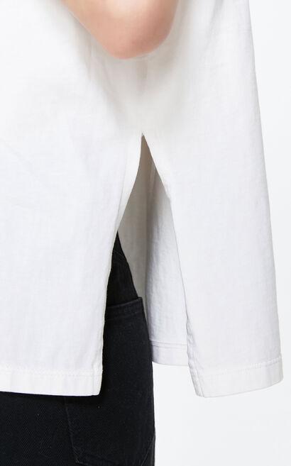 圓領墊肩漸層虎頭上衣, 白, large