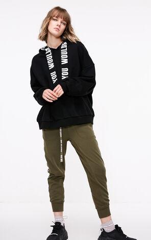 ONLY2019春季新款型字母寬鬆連帽衛衣|11919S547