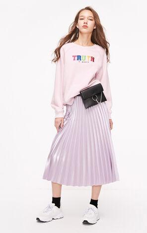 ONLY2019春季新款少女粉色寬鬆套頭衛衣|11919S545