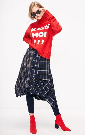 ONLY2018冬季新款寬鬆字母圖案毛衣針織女|118413518